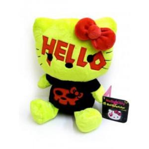 Peluche Hello Kitty Mad Barbarians 25 cm. Nera gialla *06103