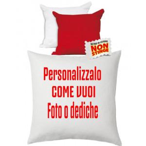 Cuscino Personalizzabile Bicolore Bianco Rosso 40x40 cm PS 10749 Gadget Personalizzato Pelusciamo Store Marchirolo