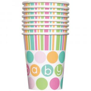 Confezione 8 Bicchieri  Carta , Baby Shower Nascita PS 11132 | Pelusciamo.com