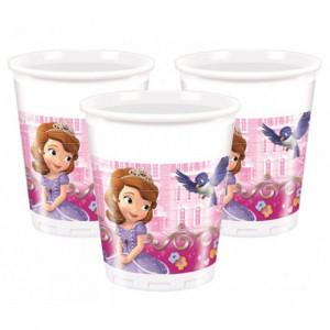 Set 8 Bicchieri Plastica Disney Sofia    | Pelusciamo.com
