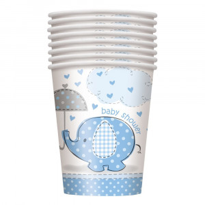 Confezione 8 Bicchieri  Carta , Baby Shower Nascita Bimbo  PS 09631 | Pelusciamo.com