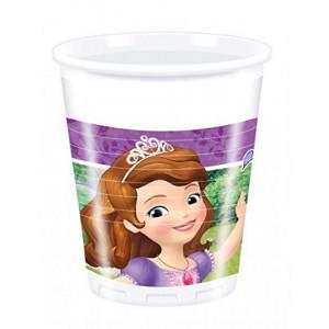 Set 8 Bicchieri Plastica Principessa Sofia  | Pelusciamo.com