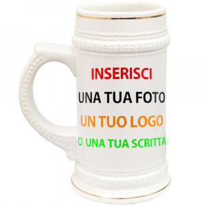 Boccale Birra In Ceramica  Personalizzabile |  Pelusciamo Store Marchirolo