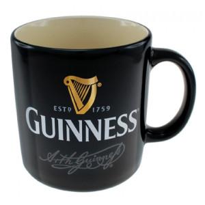 Boccale Guinness Beer Tazza In Ceramica Nera PS 14404 Coffee mug Pelusciamo Store Marchirolo