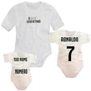 Body manica corta in cotone abbigliamento ufficiale Juventus calcio *02327