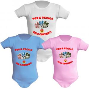 Body Neonato Per Il Regalo Solo Contanti Abbigliamento Prima Infanzia PS 28180-1 pelusciamo store