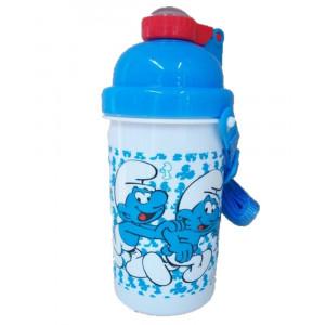 Borraccia pop up I Puffi con tracollina  600 ml *02812 pelusciamo