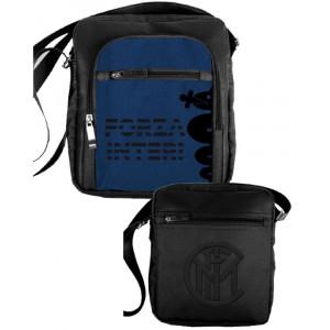 Borsello a tracolla ecopelle prodotto ufficiale F.C. Internazionale 04001 pelusciamo store gadget idea regalo