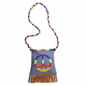 Accessorio Costume Carnevale Anni 60 , Borsetta Hippie | pelusciamo.com