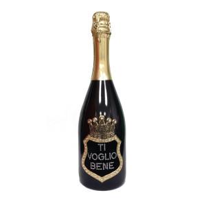Bottiglia Di Prosecco Extra Dry 0.75 ML. Personalizzata Ti Voglio Bene