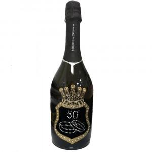 Bottiglia Di Prosecco Extra Dry 0.75 ML. Personalizzata 50° Anniversario PS 12043