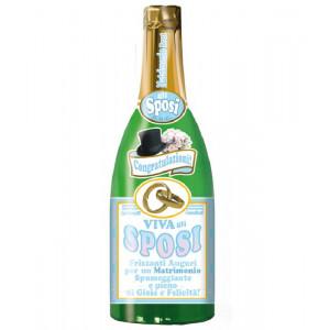 Bottiglia gigante Gonfiabile 100 cm viva gli sposi *01934 pelusciamo store