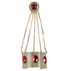 Bracciale Oro con Anello e Catene, Accessorio Carnevale | pelusciamo store