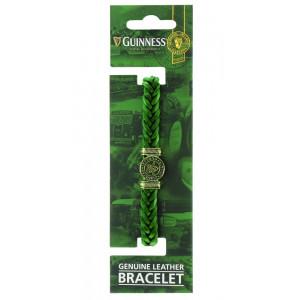 Braccialetto regolabile in pelle verde Guinness beer Arpa *03412 pelusciamo store