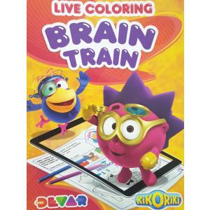 Album Da Colorare Brain Train  in Realta Aumentata. | pelusciamo store
