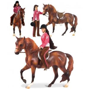 Breyer Horses my favorite horse Let's go Set Cavallo e amazzone *07899