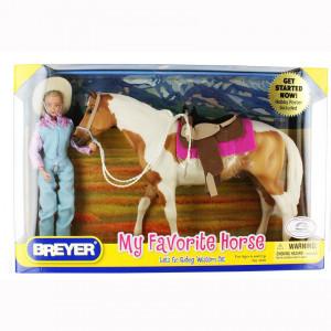 Breyer Horses my favorite horse Let's go Set Cavallo e amazzone *07900 pelusciamo store