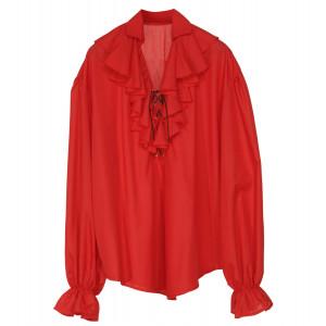 Accessorio Costume Pirata, Rinascimento, Camicia Rossa *20040