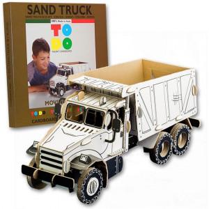 Gioco Puzzle 3D Cartone Riciclato  Todo,  Camion Sabbia  | pelusciam
