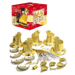 Gadget Capodanno, Set  Accessori Festa Buon Anno Oro   Pelusciamo.com