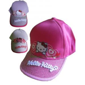 Cappellino baseball con visiera Bimba Hello Kitty 2 Cuori *08270