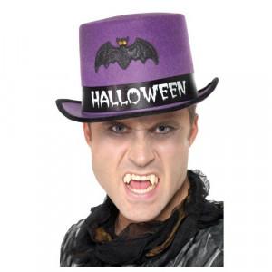 Accessorio Costume Halloween, Cappello a Cilindro Viola