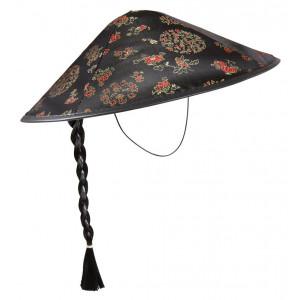 Accessori costume Carnevale uomo Cappello cinese con treccia *19758 pelusciamo store