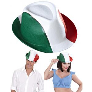 Cappello Fedora tricolore bianco rosso verde tifosi Italia *02106 Pelusciamo.com