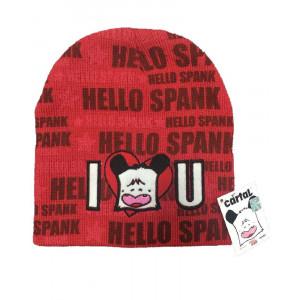 Berretto Invernale Hello Spank Rosso, Cuffia one size 54 *04797 pelusciamo