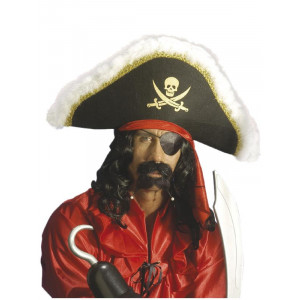 Cappello da Pirata con fascia - Accessorio Costume Carnevale Corsaro   Pelusciamo.com