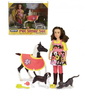 Breyer Horses Horse Pet Sitter bambina pony gatto e cane *02370 pelusciamo store