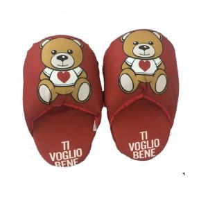 Ciabattone Orsetto teddy love ti voglio bene regalo San Valentino 04908 pelusciamo store marchirolo