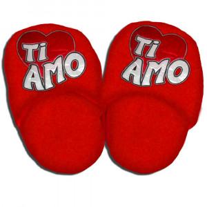 Ciabattone Ricamate Ti Amo Idea Regalo San Valentino PS 04929 pelusciamo store