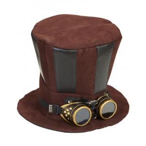 Cilindro Steampunk con Occhiali Accessori Costume Carnevale PS 26421 Pelusciamo Store Marchirolo