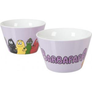 Ciotola tazza in ceramica lilla - serie animata Barbapapà   Pelusciamo.com