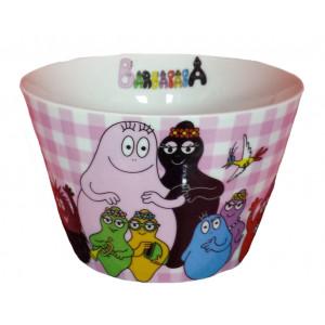 Ciotola Bowl in ceramica a scacchi rosa e bianchi Barbapapà | Pelusciamo.com