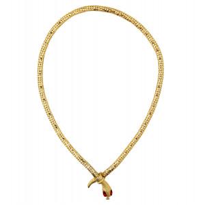 Collana Girocollo Serpente Oro Accessorio Costume Carnevale Egiziana