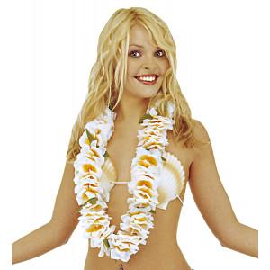 Collana Hawaiana Bianca Lusso , Festa Party Hawaii *15373 | pelusciamo.com