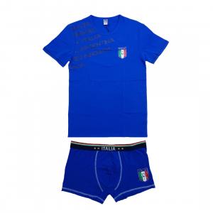 Completo intimo Italia Figc Abbigliamento Estivo Ufficiale Calcio | Pelusciamo.com