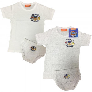 Completo Intimo Paw Patrol T-Shirt Con Slip Nickelodeon PS 09705