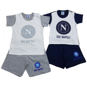 Completo neonato 2 pezzi SSC Napoli calcio PS | Pelusciamo.com