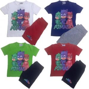 Completo Bimbo SuperPigiamini Pjmasks T-shirt Pj Masks PS 25134 - pelusciamo store
