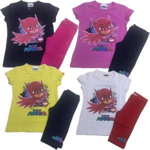 Completo Bimba SuperPigiamini Pjmasks T-shirt Pj Masks PS 25154 - pelusciamo store