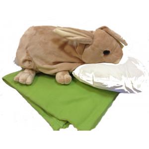 Peluche Coniglio Con coperta e Cuscino wild republic *03084 pelusciamo store