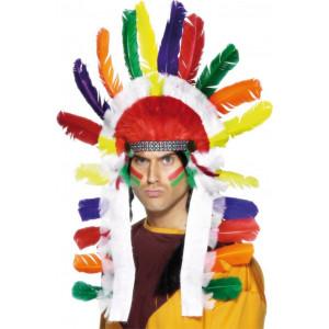Accessorio Carnevale copricapo Piume Indiano *24854 pelusciamo.com