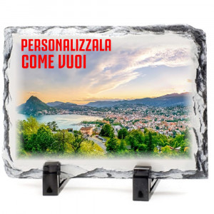 Cornice Pietra Ardesia Personalizzabile 15x20 cm PS 14980 Gadget Personalizzata | Pelusciamo.com