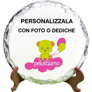 Cornice Pietra Ardesia Tonda Personalizzabile 10x10 cm PS 13095 Gadget Personalizzata