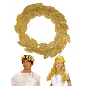 Corona d'Alloro Oro - Accessorio Costume Carnevale Romano, greco