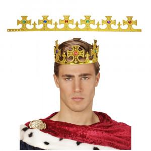 Corona Da Re Regolabile, Accessorio carnevale Adulto | Pelusciamo.com