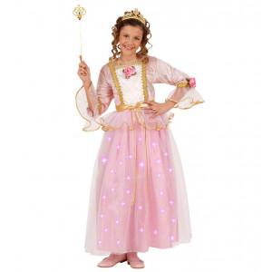 Costume Carnevale Luminoso Bimba Principessa Rosa *22842 | Pelusciamo.com
